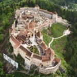Vedere aeriana cetatea Rasnov